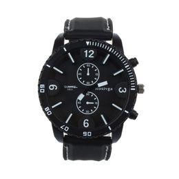 спортивные наручные часы белые Скидка Mens Watch Large Dial Sports Watch Black White Pointer Silica Gel Strap Quartz Wrist montre homme horloges mannen relojes