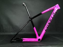2019 bicicleta de fibra de carbono preta fosca OEM T1000 Carbono Fibra Costelo Montanha MTB 29er S / M / L quadro de carbono bicicleta quadro selim braçadeira apenas 760-880g Super leve