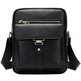 2019 bolsa de maleta vertical NOVA-A Primeira Camada De Couro Saco dos homens Moda Única Ombro Pasta Vertical Casual Retro Messenger Bag bolsa de maleta vertical barato