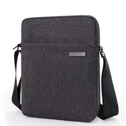Shockproof Men s Crossbody Bag pack hidden zipper Shoulder Bags for 9.7   pad Male Handbag Canvas Leather Messenger Bags a6304cd2c7d27
