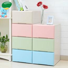 Armário de roupas plásticas on-line-Engrossar grande roupas do armário de armazenamento de gaveta de plástico armário de armazenamento multi-camada caixa de guarda-roupa acabamento gaveta de caixa