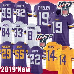 Minnesota Vikings Jersey 19 Primos Adam Thielen 14 Stefon Diggs 8 Kirk Barr Randy Moss 55 Harrison Smith Dalvin Cook Rudolph Hunter Rodas desde fabricantes