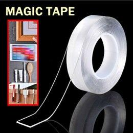 Fita dupla transparente on-line-Magia Dupla face aperto Tape Traceless removível mágica Nano fita dupla face adesiva Traceless Limpar Tape Início Ferramenta