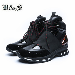 maßgeschneiderte schnürsenkel Rabatt Schwarz Street Lace up personalisierte Sohle handgefertigt angepasst Echtes Leder Stiefel High Top Trainer Männer atmungsaktive Sneaker Schuhe