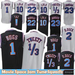 2019 Großhandel Film 23 Michael 1 Bugs Bunny Jersey! Taz 1 Tweety Space Jam Tune 22 Bill Murray 10 Lola 2 D.DUCK Basketball-Trikots von Fabrikanten