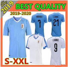 2019 maglie uruguay 2019 Uruguay Copa America Soccer Jersey 19 20 Uruguay Home Away L.suarez E.cavani Soccer Shirt D.GODIN Nazionale Uniformi di calcio sconti maglie uruguay