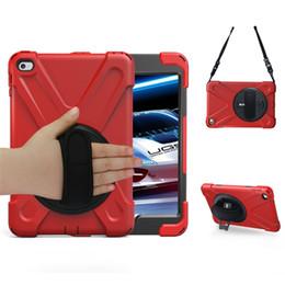 Ipad mini résistance aux chutes en Ligne-Pour iPad Mini 4 Coque avec rotation de 360 ° C Résistant aux chocs Résistance aux chutes Résistance aux chutes Béquille intégrée pour Apple iPad Mini 4 Coque