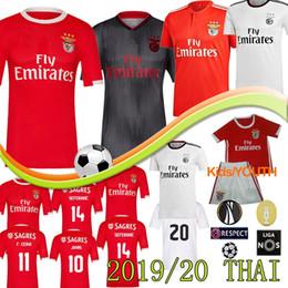 2019 uniforme de futbol tailandés Camisetas de fútbol tailandesas de Benfica JONAS JOAO FELIX HOMBRES NIÑOS Nueva PIZZI SEFEROVIC SALVIO Camisas de visitante del hogar JARDEL camisa de futebol Uniformes 18 19 20 uniforme de futbol tailandés baratos