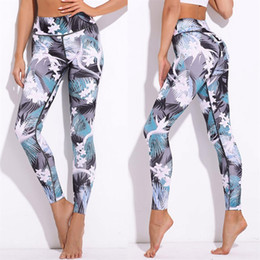 669446f1e89c Discount spandex jumpsuit men - Female printed leggings yoga pants Womens  Sports Yoga Workout Gym Fitness