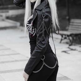 Deutschland Punk Kette Kunstleder-Jacken Damen Herbst Gothic Short Oberbekleidung Streetmotorradjacke Coole Lace Up Lässige Schwarz Mantel cheap black leather jacket chain Versorgung