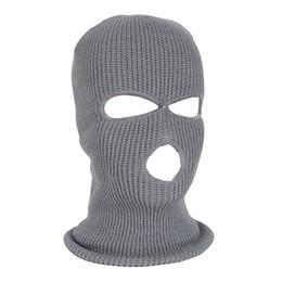 máscara de esqui do exército Desconto NOVA Máscara de Rosto Completo Máscara de Esqui Cap Inverno facemask Cap Balaclava Exército Tático 3 Buracos ciclismo de inverno # 4n26
