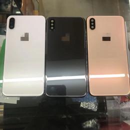 2019 couvercles de boutons pour iphone Vente directe neuve pour Apple Iphone d'origine pour Iphone XS Max couvercle du boîtier en métal à l'arrière de la porte de la batterie avec plateau pour carte SIM + bouton du volume couvercles de boutons pour iphone pas cher