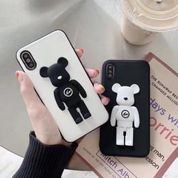 Лучшие новые сотовые телефоны онлайн-NEW лучший чехол для iphone мультфильм 3d игрушка молния плюшевый мишка чехол для телефона защитный чехол для мобильного телефона iPhone x xr xsmax