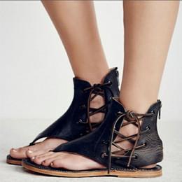 a3fd9931804 2019 chaussures plates décontractées européennes Grande Taille D été  Sandales Talons Plat Appartements Flats Femmes