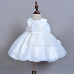 Canada Robes de première communion pour les filles scoop avec appliques et robes de reconstitution historique Bow organza robe de bal pour petites filles Offre