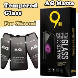 AG Mat 9 H Kavisli Temperli Cam Filmi Ekran Koruyucu Güvenlik Xiaomi Mi 9 SE 8 Lite Mix 3 F1 Redmi Not 7 6 Pro 6A Gitmek S2 K20 Kutusu Var nereden mat kutu kırmızı tedarikçiler