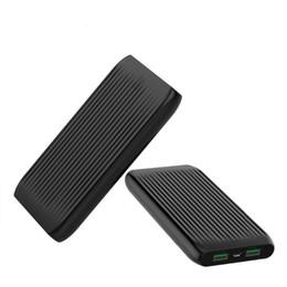 Большие аккумуляторы онлайн-Портативный 10000mAh Power Bank Dual USB Внешний большой емкости Тонкий дизайн Аккумулятор POWERBANK зарядное устройство для мобильного телефона Tablet