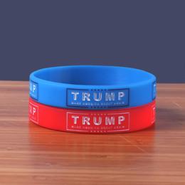 Президент Америки Браслет Дональд Трамп Мужчины И Женщины Браслет Движения Силиконовые Желе Браслеты Синий Красный Мода 1 2dl C1 от