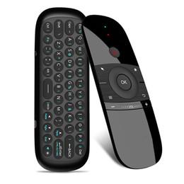 tastiera originale del pc Sconti Originale W1 Fly Air Mouse Gyro Wireless Keyboard 2.4g Rechargeble Motion Sense Mini telecomando per Smart Android Tv Box Pc T190628