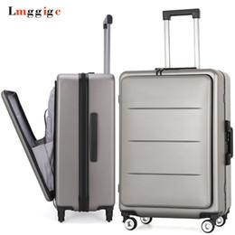 Ruedas del paquete online-Maletín de viaje exclusivo para PC, maletas con bolsa para computadora portátil, caja de ruedas con ruedas universal, paquete de archivo de negocios para hombres