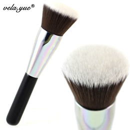 cepillo de base kabuki plano Rebajas Flat Top Kabuki Brush Face Maquillaje Brocha En Polvo Brocha para Maquillaje Cosméticos Herramienta de Belleza Redondo / Plano C18112601