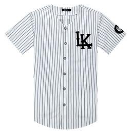 camisas do rei do algodão Desconto Verão Camisas Da Listra Branca Jersey Último Rei LK Hip Hop Homens Mulheres Casais Camisas de Algodão Ativo Tees Plus Size M-XXL