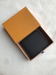 Com desporto ao ar livre Box logotipo Paris premium Red Leather Magro Carteira X Black Red Wallet Genuine saco de couro de