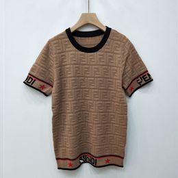 4bb86cffd ice silk tops Desconto Marca de luxo Mulheres Tops Oco F Carta Pullover  Sweater Moda Manga