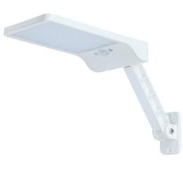 Lámpara de poste de luz al aire libre jardín online-48 Led de luz solar al aire libre 1000lm Iluminación impermeable para la pared del jardín de dos ángulos giratorios de Polo solar lámpara de calle con 3 modos