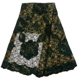 Afrikanisches Spitzegewebe Glitter Dubai Mode Stickerei Schnur Spitze Grün / Rosa Hochzeitskleid Hohe Qualität Guipure-spitze Stoff X1562 von Fabrikanten