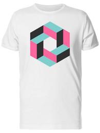 Bilder für t-shirts online-Illusion Geometric Cube Design Men's Tee -Image Herrenstolz dunkles T-Shirt