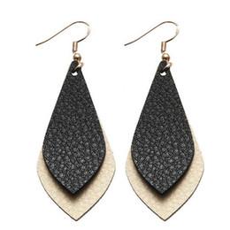 Nouvelles couches de boucles d'oreilles en cuir plat pour les femmes Bohème Vintage larme Dangle boucles d'oreilles bijoux de mode personnalisé ? partir de fabricateur