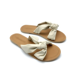 1dfc163d16d Discount flat bottom platforms sandal - 2019 womens andals cream white  ribbons hot fashion shoes with