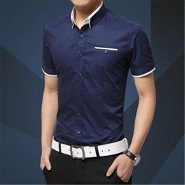 tuxedos grandes hombres Rebajas Nueva marca de llegada de los hombres camisa de negocios de verano de manga corta camisa de esmoquin camisa de esmoquin camisa de los hombres camisas de gran tamaño 5XL