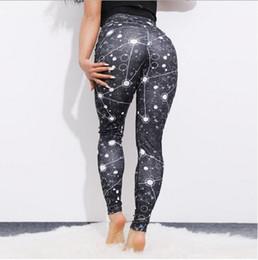 Pantalones ajustados de yoga chica flaca online-Mujeres Capris Deportes en blanco y negro Chica Pantalones pitillo elásticos ajustados ajustados Elásticos Slim Fit Fitness Lápiz Pantalones Pantalones de yoga para mujeres