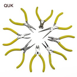Acciaio da taglio elettronico QUK HSS Mini Pinze Forbici Fili Utensili da taglio Utensili per elettroutensili Utensili a mano perline Gioielli Pinze da utensile per tagliare la bottiglia fornitori