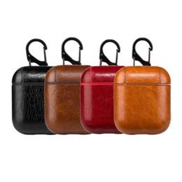 Винтажные крючки онлайн-Натуральная Кожа Крюк Чехол Для AirPods Урожай Матовый Для Apple Airpods Роскошный Защитный Мешок Хранения С Розничной Упаковке