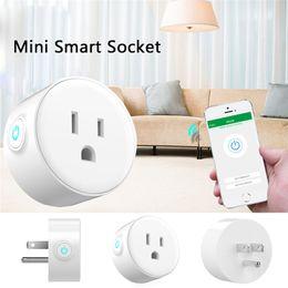 Enchufes online-Enchufe inteligente de EE. UU., Control remoto de WiFi con Alexa, sincronización de encendido / apagado La alimentación, Samrt Google Home Electric Mini Socket