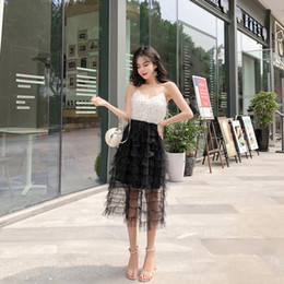d65ba910bff1 Summer 2019 New Korean Sexy Women Clothing Nightclub Wear Sling sleeveless  sequined Party Evening Dress Mid-long Skirt QC0205
