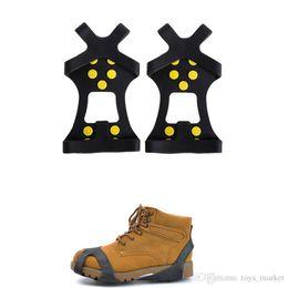 Противоскользящий лед онлайн-Ледяные ботинки с шипами Anti Slip Ice Gripper с Crampon Walk on Ice Snow для ботинок зимних скалолазаний