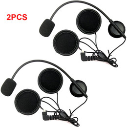 motorcycle helmets microphones Promo Codes - 2pcs Mini 8 Pin Earpiece Microphone Speaker For BT-S1 BT-S2 S3 Motorcycle Bluetooth Intercom Interphone Headset For Open Helmets