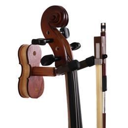 2019 sapos de arco de violino Cabide de violino em casa e estúdio cabide violino ou viola, violino cabide de parede especial, fabricação de madeira (jacarandá)
