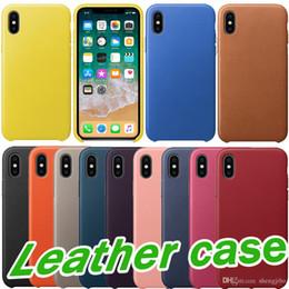 Meilleur cas d'iphone 5s en Ligne-Hot PU Etui en cuir Etui officiel d'origine pour Apple iphone 7 8 Plus X Meilleure qualité Couvercle en cuir de bouton en cuir pour iPhone 5 5S SE 6 6S