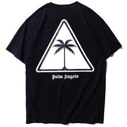 2019 Yaz PA Palm Tree Logo Baskılı Kadın Erkek T Shirt tees Hiphop Streetwear Erkekler Pamuk Kısa Kollu T gömlek nereden