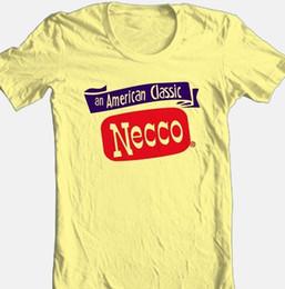 T-shirt Necco caramella vintage retrò stile anni '70 T-shirt grafica in cotone giallo 100% Divertente spedizione gratuita Maglietta casual unisex supplier yellow cotton candy da caramella di cotone giallo fornitori