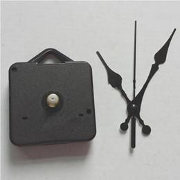 2019 mãos do movimento do relógio de quartzo Diy quartzo relógio kit de movimento preto relógio acessórios do eixo do mecanismo de reparação com conjuntos de mão eixo comprimento 13 melhores desconto mãos do movimento do relógio de quartzo