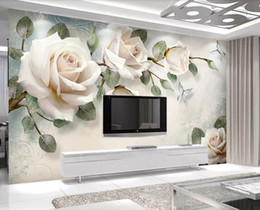 oil absorbing papers Promo Codes - Custom Mural Wallpaper For Kids Room Hand PaintedSimple hand-painted oil painting flower Wallpaper Murals Papel De Parede