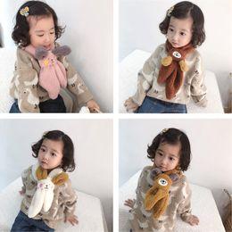 Bufanda de cordero online-ventas al por mayor de 6 colores de la bufanda del otoño y nueva cruz animal de la historieta invierno de los niños del bebé de cordero cálida bufanda de cachemira