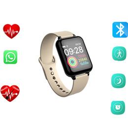 Телефонные тарифы онлайн-B57 спортивные смарт-часы Android Watch женщины мужчины водонепроницаемый смарт-часы с сердечного ритма артериального давления Smartwatch для IOS телефона