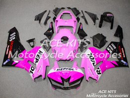 pink honda motorcycles Coupons - ACE KITS Motorcycle fairing For HONDA CBR600RR F5 2013-2018 Injection or Compression Bodywork Pink Black QQA45